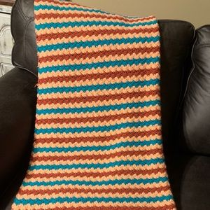 Handmade vintage throw blanket. Used